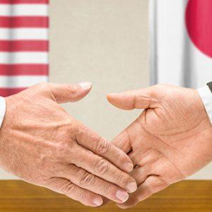 Handschlag zwischen USA und Japan