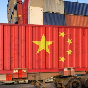 Container mit Flagge China
