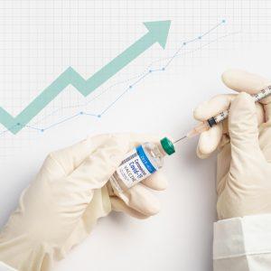 Impfung und positive Kurve