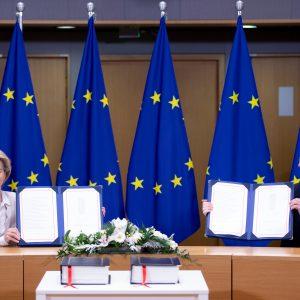Unterzeichnung Abkommen EU